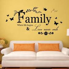 Removable Art Quote Family Where Life Begins Wall Decor Sticker Pvc Mural Decal Buy At A Low Prices On Joom E Commerce Platform