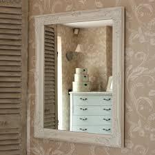 large ornate white wall mirror flora
