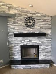 custom fireplace and accent walls