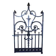 a fine cast iron garden gate with