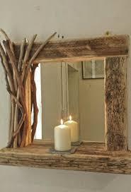 oban driftwood mirror with shelf
