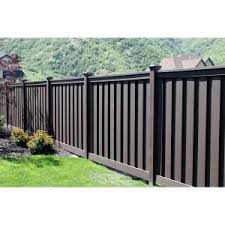 Trex Seclusions 90 1 2 In X 4 In X 72 In Woodland Brown Ready To Assemble Fence Section Tfbsect Privacy Fence Panels Wood Fence Design Privacy Fence Designs