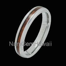 jewelry genuine koa wood inlay wedding