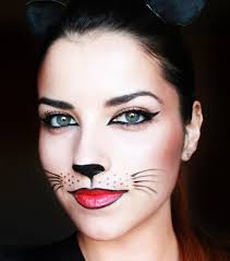 drawing a cat nose on your face