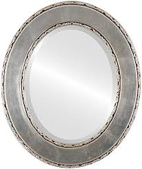 oval beveled wall mirror for home decor