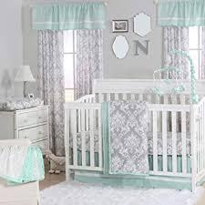 mint green 4 piece baby crib bedding