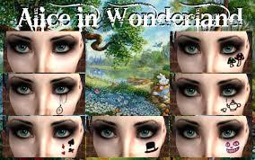 alice in wonderland eye makeup cat