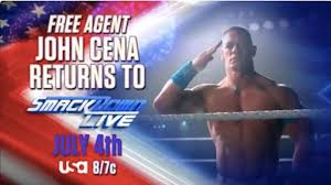 john cena billed as a free agent in
