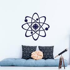 Science Wall Decal Proton Vinyl Sticker Decals Atom Physics Etsy