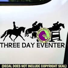 Horse Jumping Dressage Vinyl Sticker Car Laptop Window Decal Equestrian Car Body Exterior Styling Parts Car Emblems