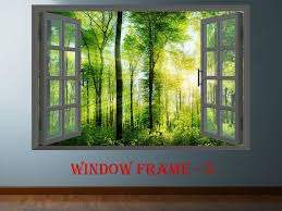 Mountains 004 3d Window View Decal Wall Sticker Art Mural Nature Scenic View