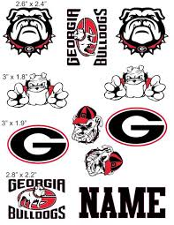 Georgia Bulldogs Cranial Band Decoration From High Quality Vinyl For Baby Helmets