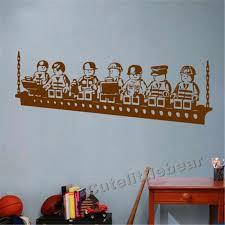 Funny Cartoon Robots Lego Vinyl Wall Sticker Boys Room Wall Art Decals Decor Stickers Boy Vinyl Wall Stickerswall Sticker Aliexpress