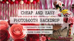 diy photobooth backdrop and