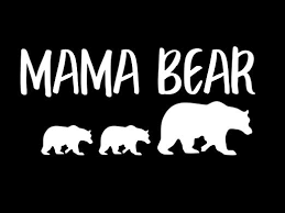 Amazon Com Mama Bear With Cubs Nok Decal Vinyl Sticker Cars Trucks Vans Walls Laptop White 7 5 X 3 5 In Nok172 Kitchen Dining