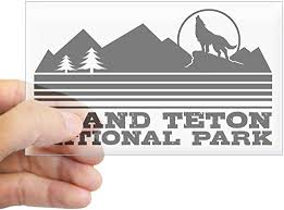 Amazon Com Cafepress Grand Teton National Park Rectangle Bumper Sticker Car Decal Home Kitchen
