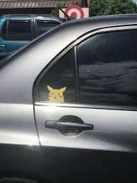 Found A Surprised Pikachu Sticker On A Car Mildlyinteresting