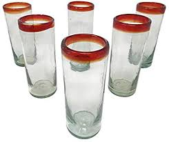 mexican hand blown drinking glasses