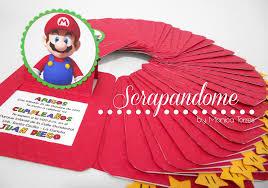 Scrapandome Con Los Recuerdos Invitaciones De Mario Luigi