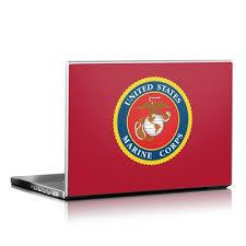 Laptop Skin Usmc Black By Us Marine Corps Decalgirl