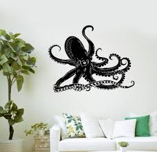 High Quality Vinyl Wall Decal Octopus Paul Kraken Marine Animals Bathroom Art Vinyl Stickers Murals Wallpaper D320 Vinyl Wall Decals Sticker Muralwall Decals Aliexpress