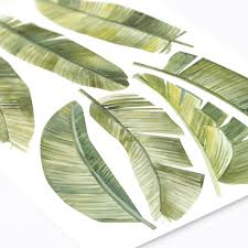 Beautiful Watercolor Palm Leaves Wall Decals For Tropical Interiors Made Of Sundays