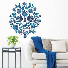Wall Pops Blue Nordic Song Wall Decal Dwpk2864 The Home Depot
