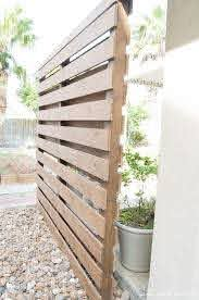Simple Planked Diy Privacy Wall Table And Hearth Privacy Fence Designs Privacy Wall Outdoor Diy Privacy Screen