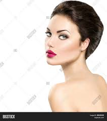 face makeup gorgeous lady