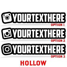 Custom Instagram Name Decal Sticker Raven Decals High Quality Vinyl