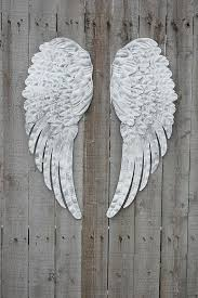 angel wings hand painted shabby chic