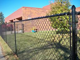 Black Vinyl Coated Chain Link Fencing Phillips Outdoor Services Onalaska Wi