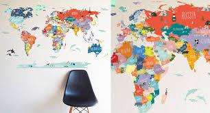 World Map Wall Art Terumah