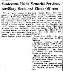 Port Byron's History Corner: Ladies Auxiliary: Thurston-Schramm-Reynolds  Post 8137 VFW