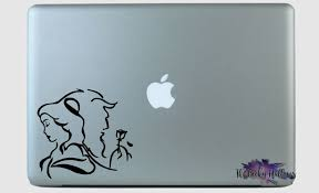 Beauty And The Beast Side By Side Disney Inspired Car Window Laptop Vinyl Decal Sticker