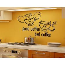 Good Coffee Bad Coffee Wall Decal Wall Sticker Vinyl Wall Art Home Decor Wall Mural 1318 Beige 47in X 28in Walmart Com Walmart Com