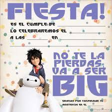Cumpleanos Big Hero 6 Invitaciones De Cumpleanos Infantiles