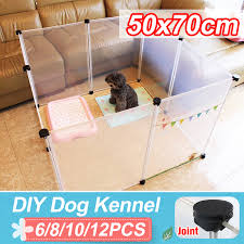 6 8 10 12pcs 50x70cm Diy Pet Cats Dogs Indoor Kennel Fence Panels Cage Puppy Crate Foldable For Household Walmart Canada