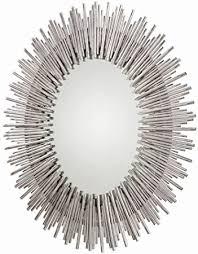 arteriors sunburst mirror silver leaf
