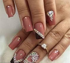 Valentine's Day nails; red nail art designs; Romantic heart shape nails;  acrylic nails; #Valentine's Day makeup   Nail art designs, Bling nails,  Heart nail art