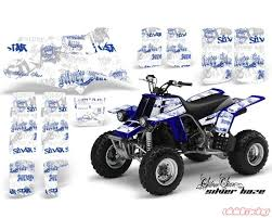 Amr Racing Atv Graphics Kit Quad Decal Sticker Sssh Blue White Yamaha Banshee 350 87 05 Yam Banshee 350 87 05 Sssh U W