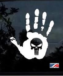 Jeep Hand Wave Punisher 11 Decal Sticker Midwest Sticker Shop