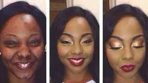black makeup transformation