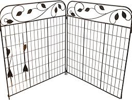 Amazon Com Amagabeli Decorative Garden Fence Coated Metal Outdoor Rustproof 44in X 6ft Landscape Wrought Iron Wire Fencing Gate Border Edge Folding Patio Fences Flower Bed Animal Barrier Section Edging Black