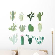 Collection Cactus Wall Decal Sticker Set Wallmonkeys Com