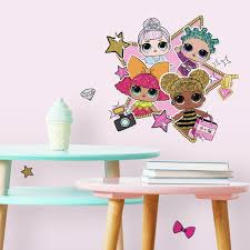 New Lol Surprise Peel And Stick Giant Wall Decals 12 Colorful Girls Room Decor Stickers Walmart Com Walmart Com
