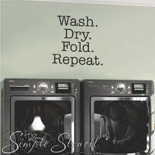 Laundry Room Vinyl Wall Decals Laundry Room Wall Art Simple Stencils