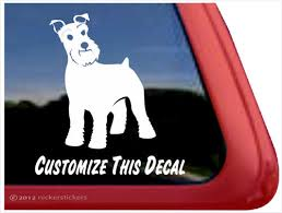 Custom Schnauzer Dog Decals Stickers Nickerstickers