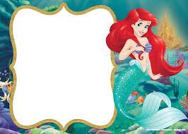 Updated Free Printable Ariel The Little Mermaid Invitation