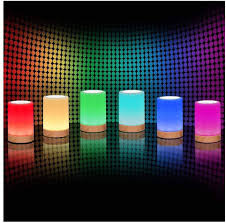 Amazon Com Royfacc Night Light Touch Sensor Lamp Bedside Table Lamp For Kids Bedroom Rechargeable Dimmable Warm White Light Rgb Color Changing Home Improvement